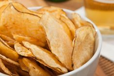 Homemade crispy baked potato chips best part you can do this with veggies too!!!!