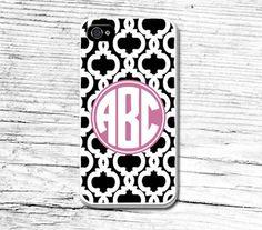 Monogram Phone CaseGeometric iPhone 5 CaseCustom Floral by Caseby