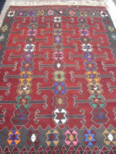 King Of The Kilim Turkish West Anatolian Kilim Rug by TARZANPILLOW