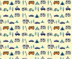 Is it silly to have vintage camper fabric inside your vintage camper? I think it's cute!