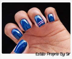 Fita Metalizada & Esmalte Azul   Estilo Próprio