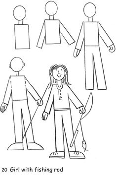 Step by step how to draw a person teachers pay teachers pinterest drawings kindergarten - Menschen malen lernen kindergarten ...