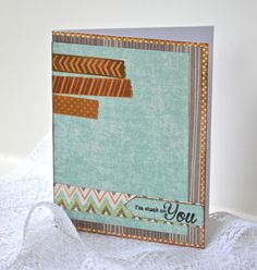 Card made by @'Cristal Hobbs using the Stuck on You set!  FUN!