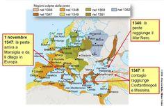 La diffusione della peste in Europa.