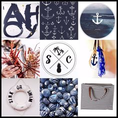 Gorgeous Nautical Black & White Striped Tote Bags - 'AHOY ' Cushion with metallic Gold accents & a happy Anchor Tote