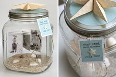 10 Creative Gifts That Come in a Jar. Photo memories in a jar. Grad Gifts, Diy Gifts, Best Gifts, Handmade Gifts, Mothers Day Crafts, Crafts For Kids, Small Mason Jars, Creative Crafts, Creative Ideas