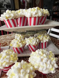 Popcorn cupcakes - so cute!!!  I find it funny that we make cakes to look like some other sort of food.
