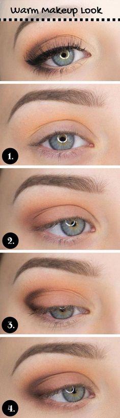 How to Do Casual Makeup Look | Everyday Makeup by Makeup Tutorials at http://www.makeuptutorials.com/makeup-tutorial-12-makeup-for-blue-eyes: