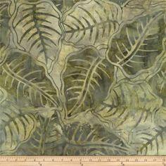 Tonga Batiks Cabana Leaves Moss