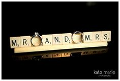 scrabble tiles - bring them to the wedding!  |  kate marie photography