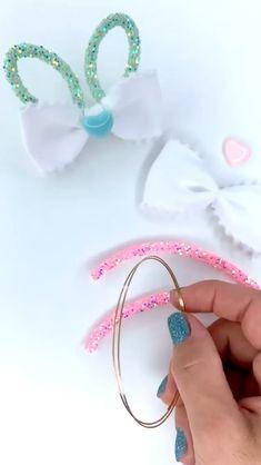 Diy Baby Headbands, Diy Headband, Handmade Hair Bows, Diy Hair Bows, Diy Bow, Diy Ribbon, Felt Hair Accessories, Ribbon Embroidery Tutorial, Hair Bow Tutorial