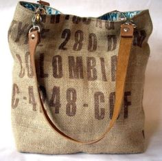 Coffee bean sack tote bag por sidneyann en Etsy What a perfect bag for a  morning boutique stroll and coffee with friends of course -) 9b1cd4636793