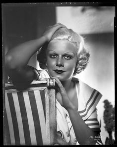Jean Harlow camera negative from Dinner at Eight by George Hurrell.