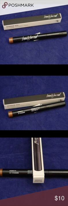 Beauty For Real Shadow Stx- Midnight Marathon This paraben free and cruelty free, long-wearing, cream-to-powder eyeshadow stick is easy to apply and is infused with meadow-foam seed oil to moisturize, rejuvenate and reduce signs of aging. #boxytip: Apply shadow to desired areas and blend immediately. You will only have about 15 seconds to blend as once the colors sets it stays in place until remove💄💋  💰Don't hesitate to make an offer💰                 💁Especially if you're interested in…