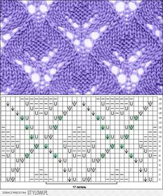 Beautiful knitted pattern for scarves and blouses