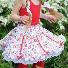 Pom Pom Arienne Floral Skirt