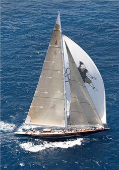 J Class yacht Endeavour II, also known as Hanuman, photo courtesy of Jean Jarreau