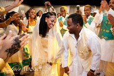 Eritrean wedding! Bride and Groom dancing in Traditional Wear -- #EastAfrica #Africa #Eritrea