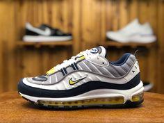 965129ec7f Buy Nike Air Max 98 White/Tour Yellow-Midnight Navy-Cement Grey 640744