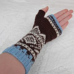 Pattern in Norwegian Charts And Graphs, Mittens Pattern, Knitting Charts, Mitten Gloves, Fingerless Gloves, Arm Warmers, Knit Crochet, Upcycle, Stitch