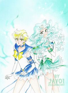 enernal sailor uranus and sailor neptune by zelldinchit.deviantart.com on @deviantART