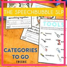 Categories To Go: Tools FREEBIE - This freebie provides you with the visuals and directions to help students learn different items within a common category ( tools ) in a way that sticks!