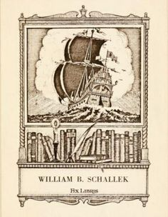 ≡ Bookplate Estate ≡ vintage ex libris labels︱artful book plates - William B. Schallek