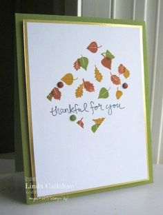 Stampin' Seasons: Autumn Leaves......PPA266, CTS138