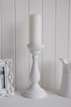 White Wooden Candle Stick Ideas And Designs In Furniture And Accessories For Decorating Your White