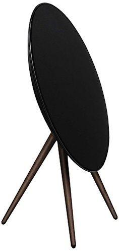BeoPlay A9 B AirPlay Music System (dLNA, 3,5mm Klinke) inkl. Walnuß Holzbeine schwarz