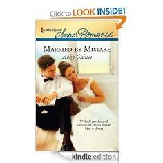 """Married By Mistake by Abby Gaines - Quick read - finished in one day of beach sitting.  Not bad for a free Kindle download.     (From Amazon: Do not adjust your set. That really was Casey Greene being jilted by her fiancé on live TV! And that really was Memphis's most eligible bachelor who stepped in to marry her instead.    Millionaire businessman Adam Carmichael wanted only to help Casey save face. He isn't prepared for the news that their """"fake"""" wedding is legal and binding...)"""