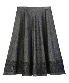Look at this #zulilyfind! Black Flare Skirt - Women by YH #zulilyfinds