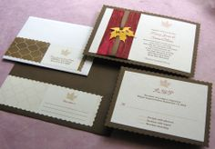 Maple Leaf Rustic Wedding Invitation with Country Vintage Scallop from Imbue You Wedding