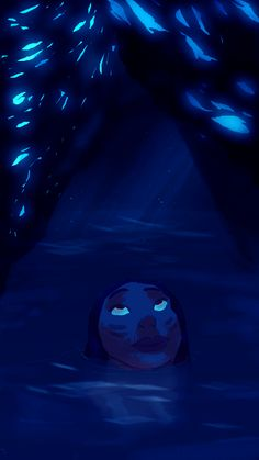 Skyrim caves. So blue.  My art.