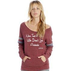 48612c1b96ed8 New FTLA Apparel Eco Maroon Sport Eco Fleece Off the Shoulder Sweatshirt –  Never Trust A