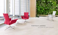 Source International | Portrait Lounge | Mesh and upholstered back - ultimate in comfort!