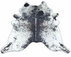 Speckled Tricolor Salt n Pepper Cowhide Rug H-428 SIZE:7.25' X 7' Cow hide #COWHIDESUSA #Lodge