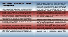Axis Capital Group Inc Review - Getting Business Loan Approved http://www.axiscapitalinc.com/