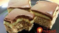 Bostonský žĺtkový krémeš: Za týmto dezertom sa môžu návštevy doslova potrhať! Hungarian Desserts, Hungarian Recipes, Cookie Recipes, Dessert Recipes, Salty Snacks, Cake Bars, Sweet And Salty, Ice Cream Recipes, Chocolate Recipes