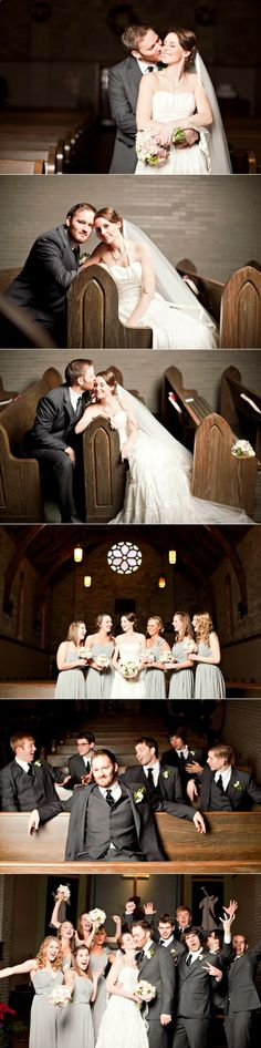Perfect and unique wedding shots for a church! Love this
