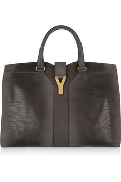 YVES SAINT LAURENT Cabas Chyc lizard-effect leather tote £2,078.47