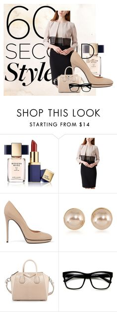 """60-second style: job interview 3"" by s-a-m-hoogland on Polyvore featuring mode, Estée Lauder, Hobbs, Casadei, Carolee, Givenchy en ZeroUV"