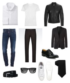A menswear look from November 2016 featuring mens slim fit white dress shirt, mens white short sleeve shirt and mens pants. Browse and shop related looks. Sandro, Dsquared2, Hugo Boss, Emporio Armani, Tommy Hilfiger, Men's Fashion, Converse, Trousers, Menswear