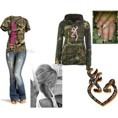 Love camo outfits But don't wear mossy oak and browning at the same time... Haha city girl mistake! Xoxox