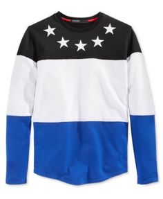 Hudson NYC Men's All Stars Colorblocked Embroidered Long-Sleeve T-Shirt - that should be mine!