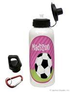 Girls Soccer Water Bottle...so cute