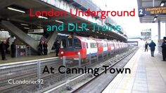 Jubilee Line and DLR trains at Canning Town station Filmed on 8th December 2016 Also featuring Alexander Dennis Enviro400 MMC Virtual Electric
