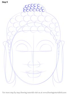 Face Drawing Learn How to Draw Buddha Face (Buddhism) Step by Step : Drawing Tutorials Budha Painting, Zen Painting, Budha Art, Buddha Drawing, Buddha Canvas, Buddha Face, Painting Inspiration, Art Drawings, Drawing Faces