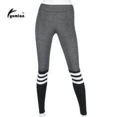 Find More Yoga Pants Information about Yumlan High Waist Striped Stretched Sports Pants Gym Clothes Spandex Running Tights Women Sports Leggings Fitness Yoga Pants,High Quality yoga pants,China fitness yoga pants Suppliers, Cheap running tights women from yumlan Store on Aliexpress.com