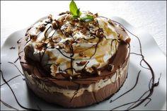 Frossen sjokoladekake med karamell og mascarpone. Foto: Magnar Kirknes